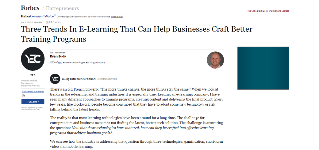 ej4 elearning trends articles in Forbes